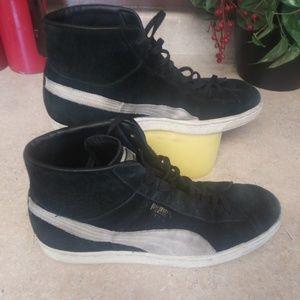 🐎puma mena size 8 black and gray suede